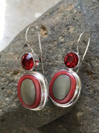 Vintage Italian Button Earrings    #IBR