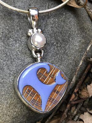 "Adorable Vintage ""Kitty Cat"" Button Pendant   #BKB8"