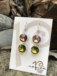 GORGEOUS! Luscious Lime and Watermelon Swarovski Crystal Earrings    #XSW