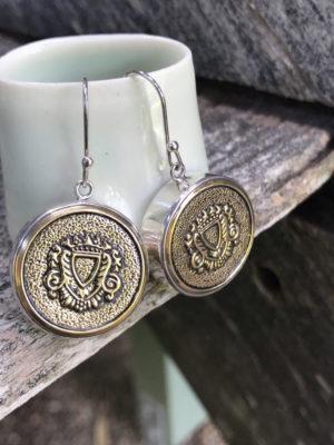 Classic Vintage Italian Button Earrings    #CBE
