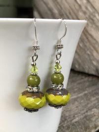 Fabulous Chartreuse Beaded Earrings     #SWL