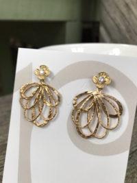 Luxurious Gold Vermeil & Crystal Earrings    #KIU