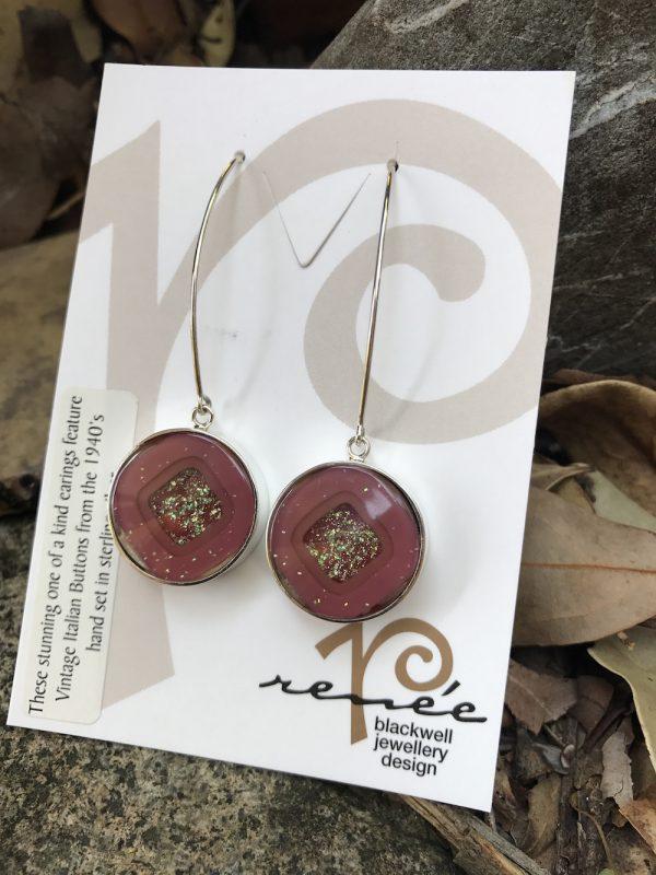 Fabulous Statement Vintage Italian Button Earrings    #POI